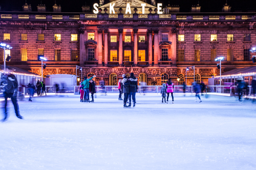 Skating at Somerset House