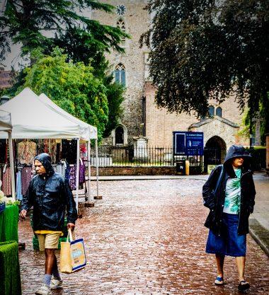 Enfield Market on a rainy day