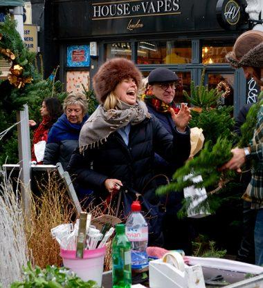 Portobello Road Market at Christmas