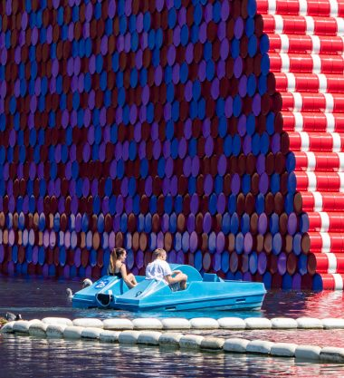Barrels and the Mastaba by Christo and Jeanne-Claude